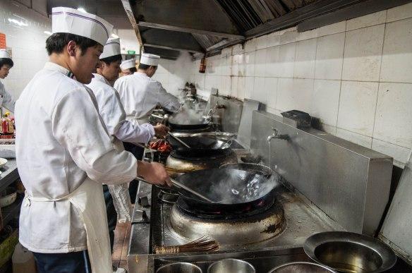 A line of woks