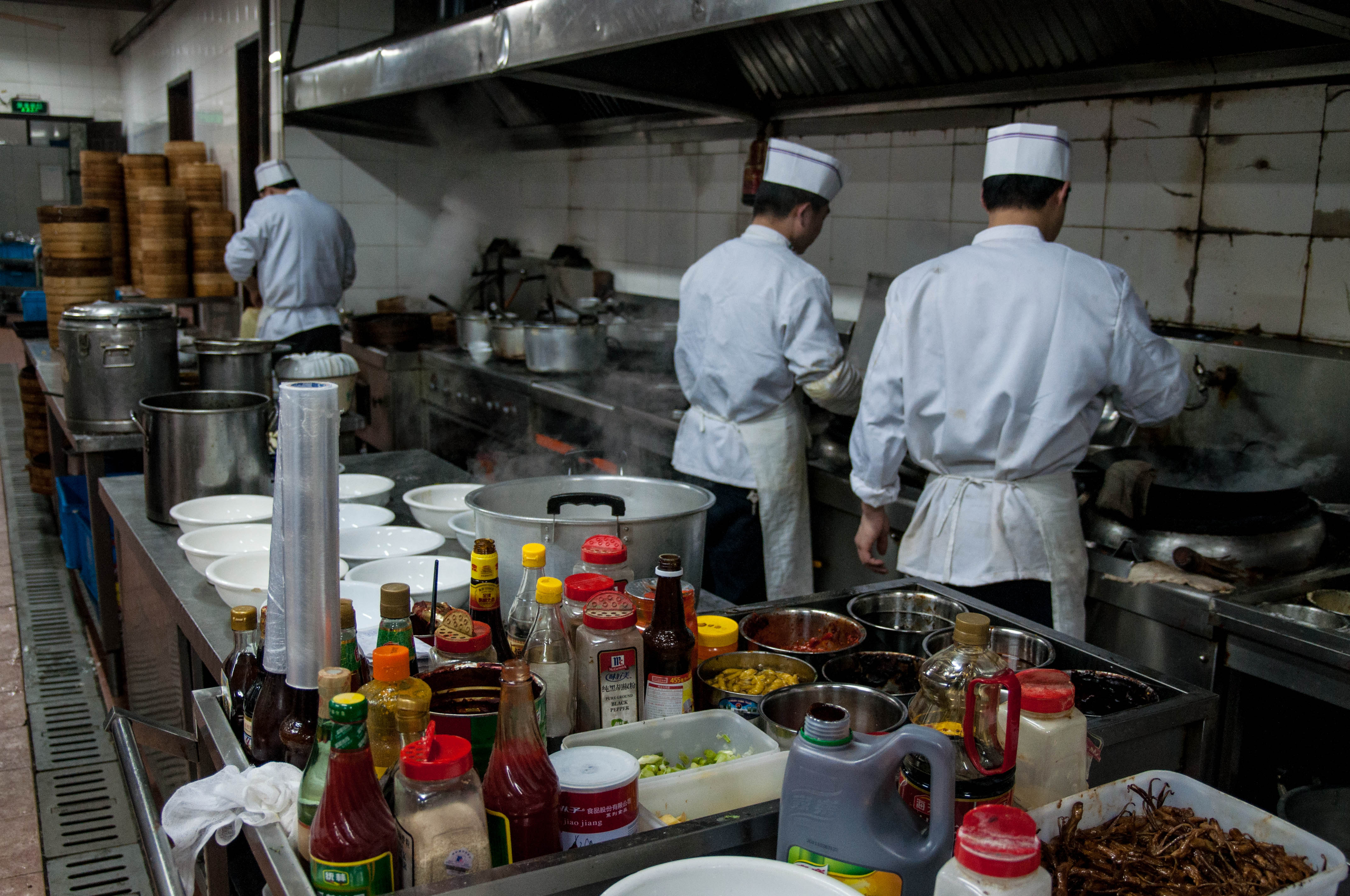 Behind The Scenes In A Chinese Restaurant Into The Middle