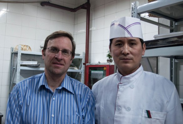 With the head chef