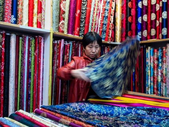 Fabric store in Nanjing