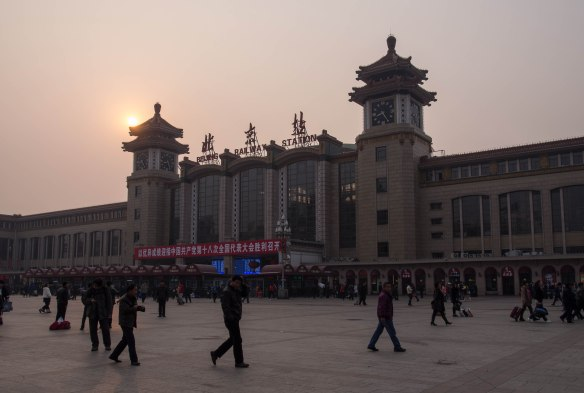 Beijing Train Station, early morning.