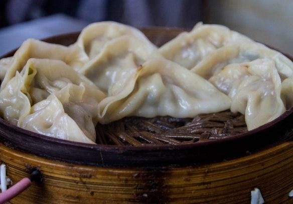 蒸饺 steamed dumplings