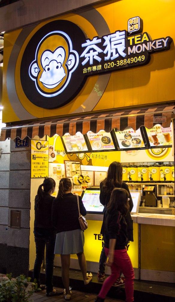Milk an bubble teas are very popular.