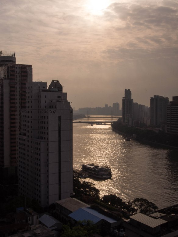 Sunrise over the Pearl River, Guangzhou, China
