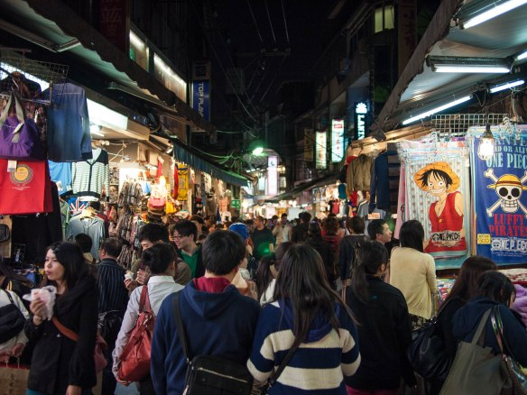 Typical night market in Taiwan