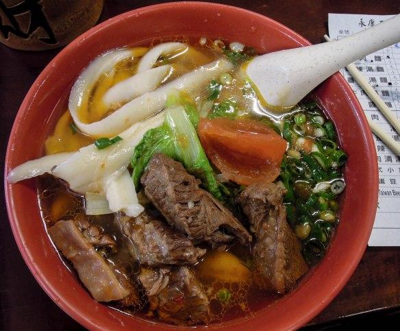 牛肉麵 niǔròu miàn; beef noodles