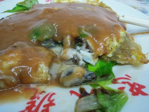 蚵仔煎 ézǎi jiān; Fresh oyster omelet