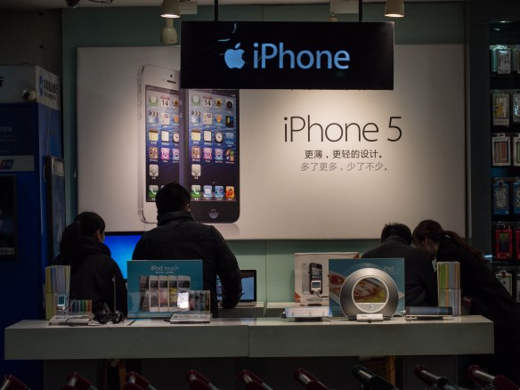 iPhones and fake iPhones are everywhere, as our Apple stores.