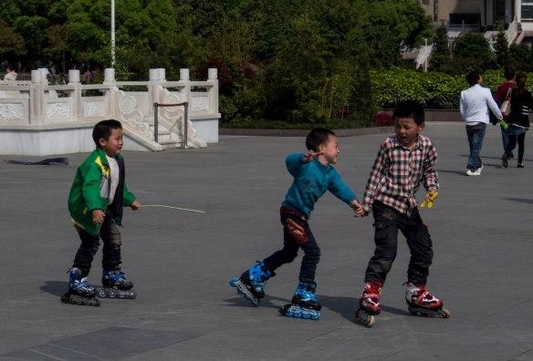 Rollerblading in Guiyang