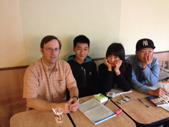 School kids I met at a McDonald's in Chaozhou. They said they liked to study there.