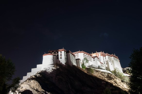 The back, side of the Potala Palace