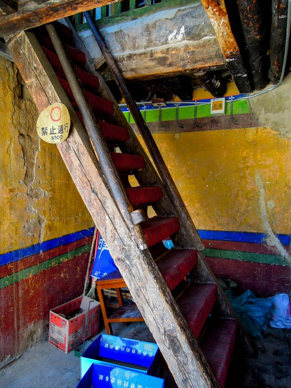 Ladder in the Potala Palace
