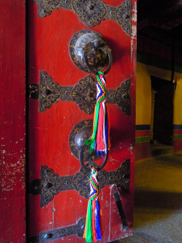 Red door in the Potala Palace