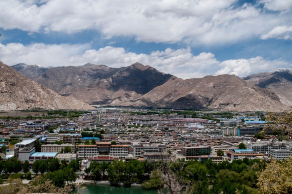 View of Lhasa from the Potala Palace