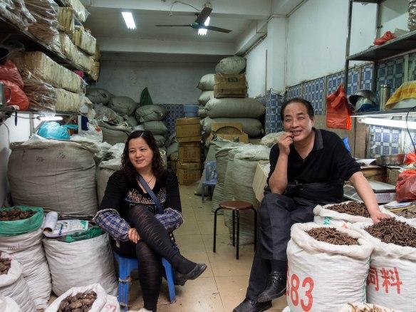 Dried mushroom shop