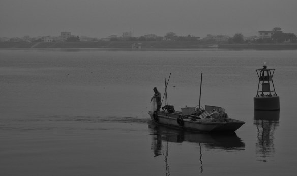 Fisherman on the Han River