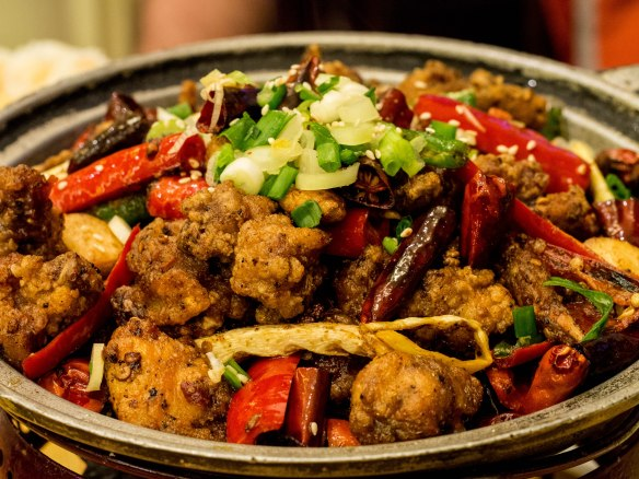 Sichuan-style fried chicken.
