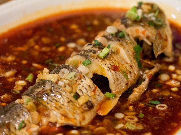 An exceptional steamed fish.